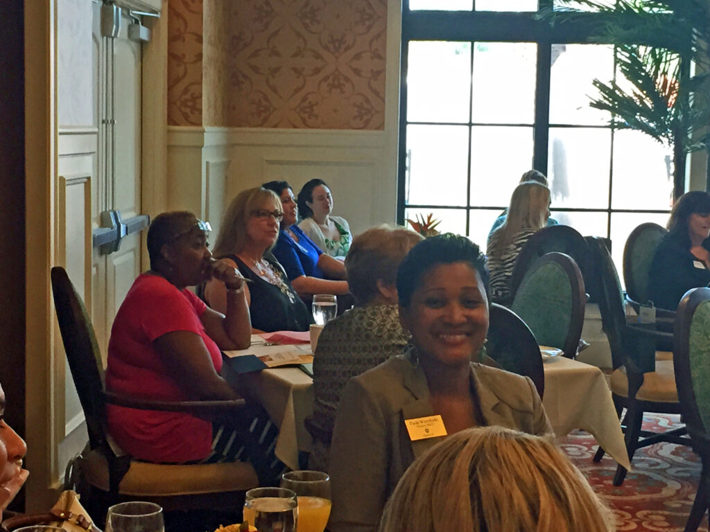 Some of our guests. Front and center is Paola Wierzbicki, director of the Palm Beach County PACE program.