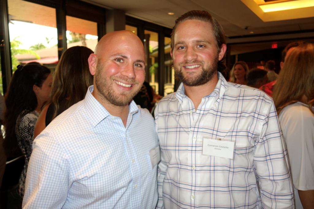 (L-R) Attorney Jonathan Karp with Cameron Costello of Allstate Insurance.