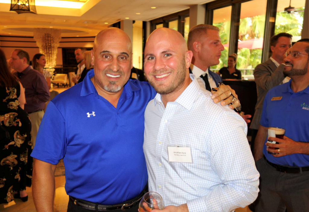 (L-R) Lou Fuoco of the Fuoco Group with Attorney Jonathan Karp