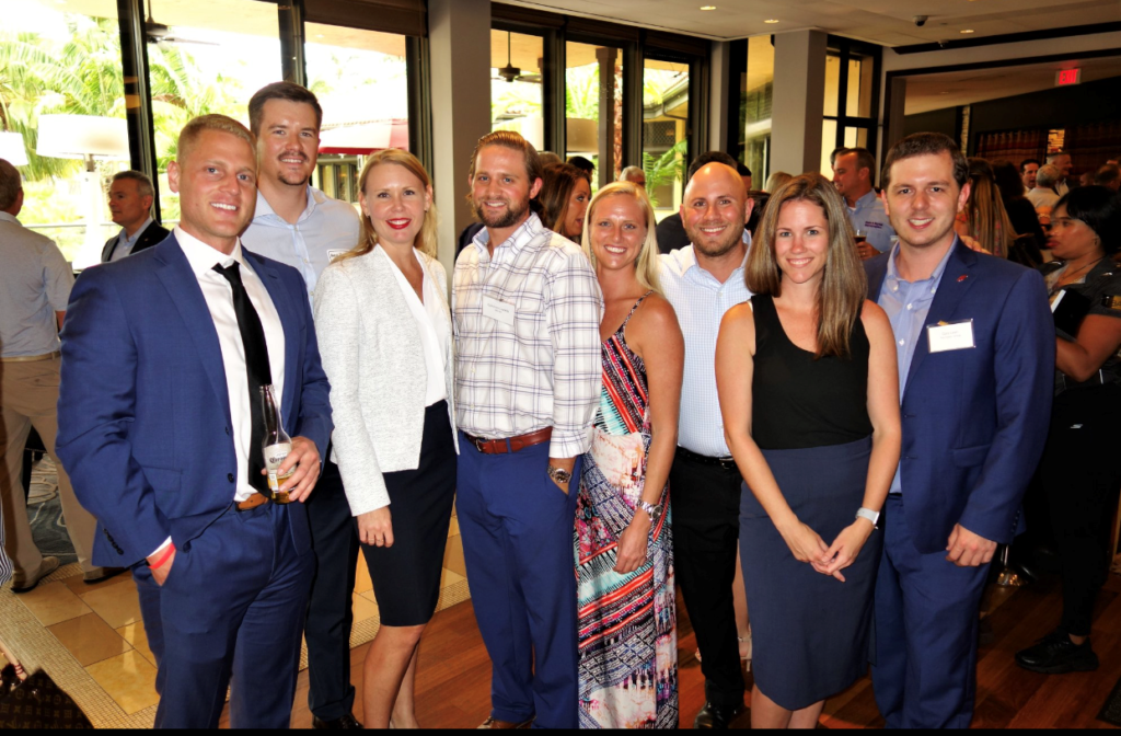 Attorneys Jonathan Karp and Cara Stropp (third and second from right) with fellow Bash supporters.