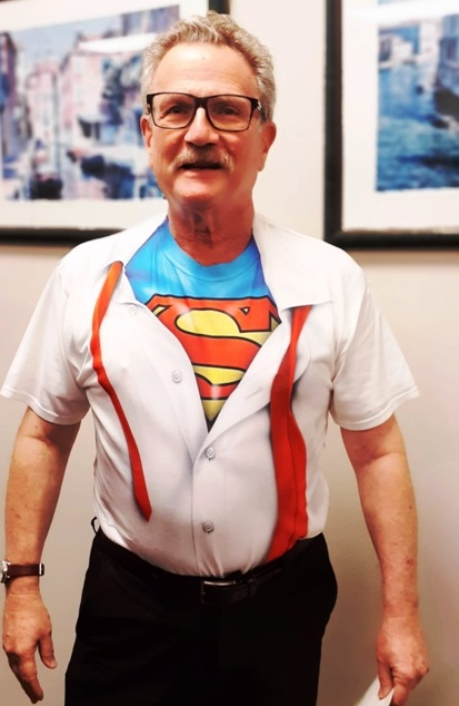 Attorney Joseph Karp Dressed as Superman