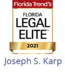 Joseph S. Karp - 2021 Legal Elite Badge