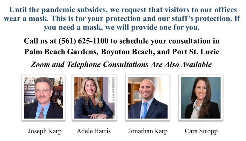 Karp Law Firm Asking You to Please Wear a Mask
